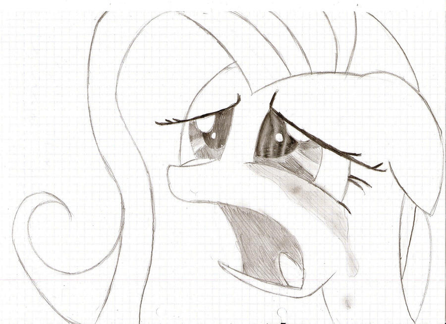 Fluttershy Crying by oooopoooo