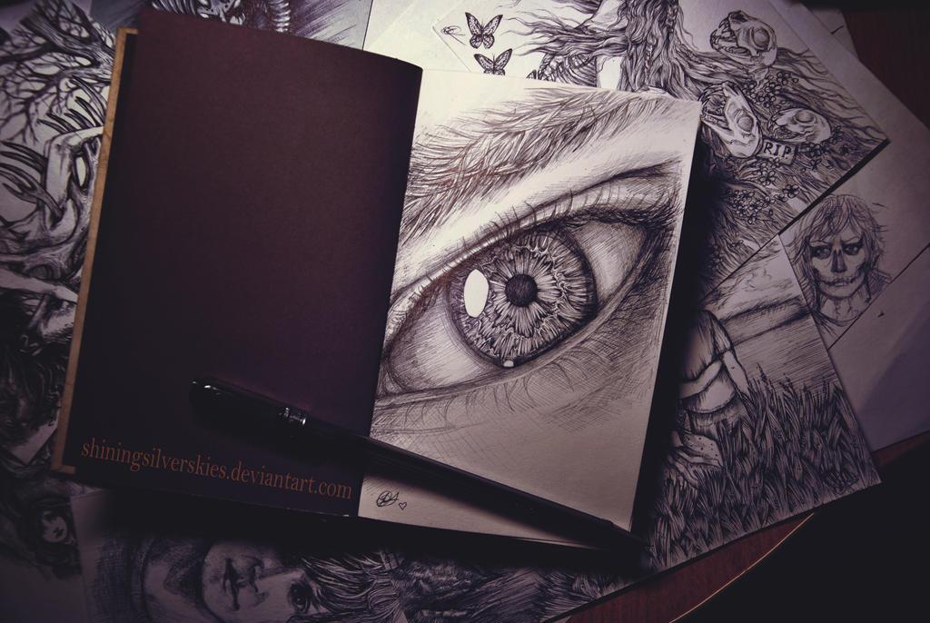 My new sketchbook by shiningsilverskies