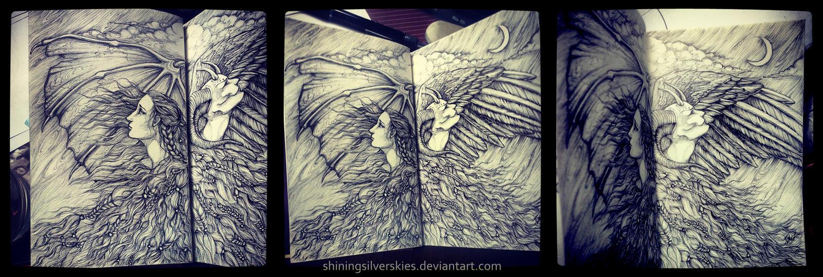 Inner demon by shiningsilverskies