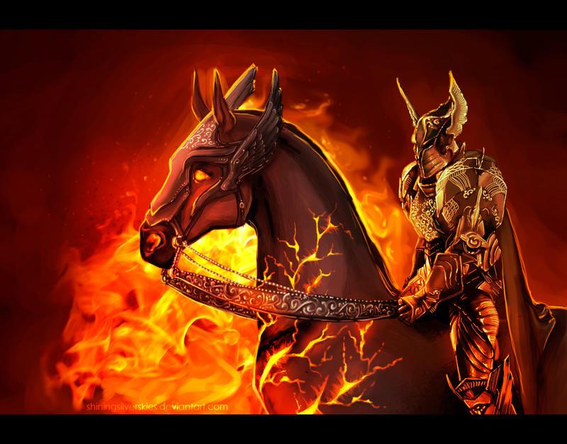 Fire knight by shiningsilverskies