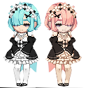 Rem and Ram by angelfish666