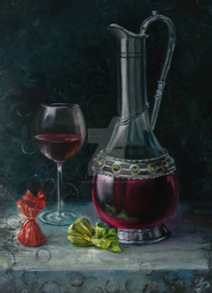 In vino veritas by LeafArtAnna