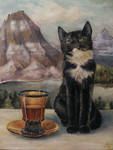 Cat in the mountains