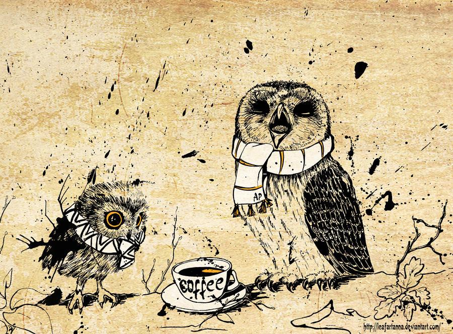 Owl morning by LeafArtAnna