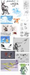 Doodle Pile 5 by Heart0fTheStorm
