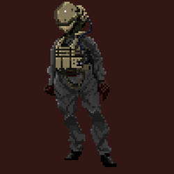 faceless mech pilot