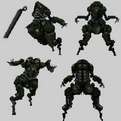 battle Mech Poses