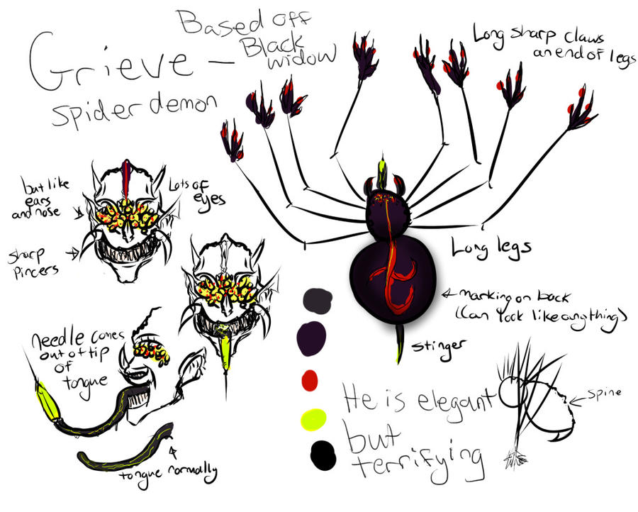 Grieve - Spider Demon - Ref by aaawhyme