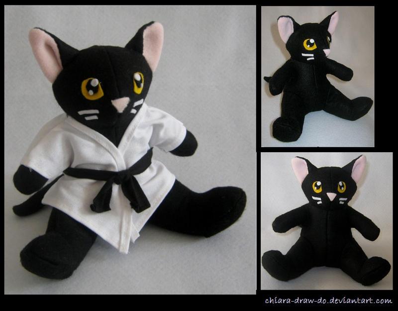 Karate Cat plush by Chiara-Draw-Do on DeviantArt