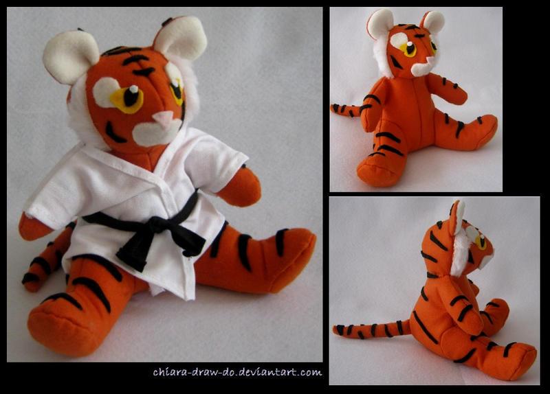 karate tiger plush by chiara draw do on deviantart. Black Bedroom Furniture Sets. Home Design Ideas
