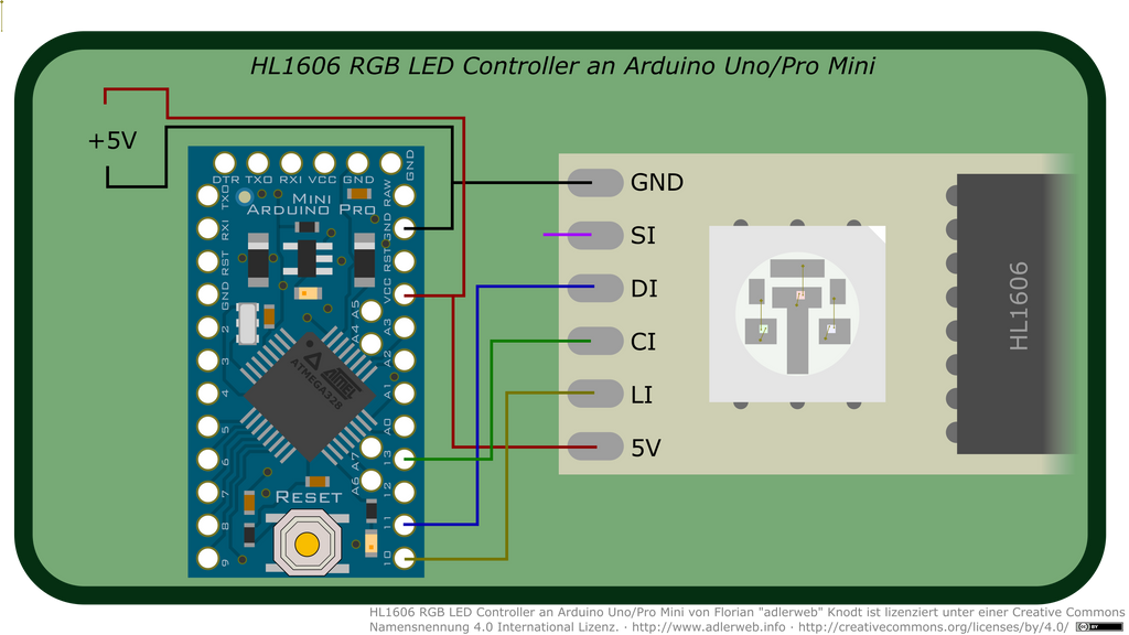 Hl rgb led controller an arduino uno pro mini by
