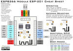 ESP8266 ESP-201 Module Pinout Diagram/Cheat Sheet