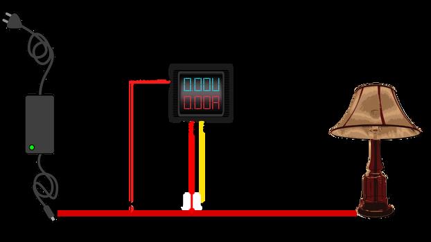 Volt/Amperemeter Anschluss