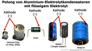 Polung von Elektrolytkondensatoren erkennen