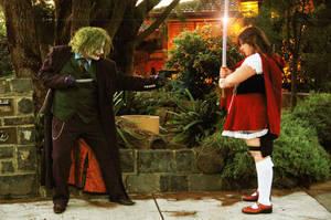 Joker vs Red by MudgetMakes