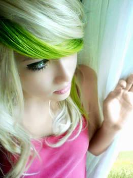 Green Blonde Hair