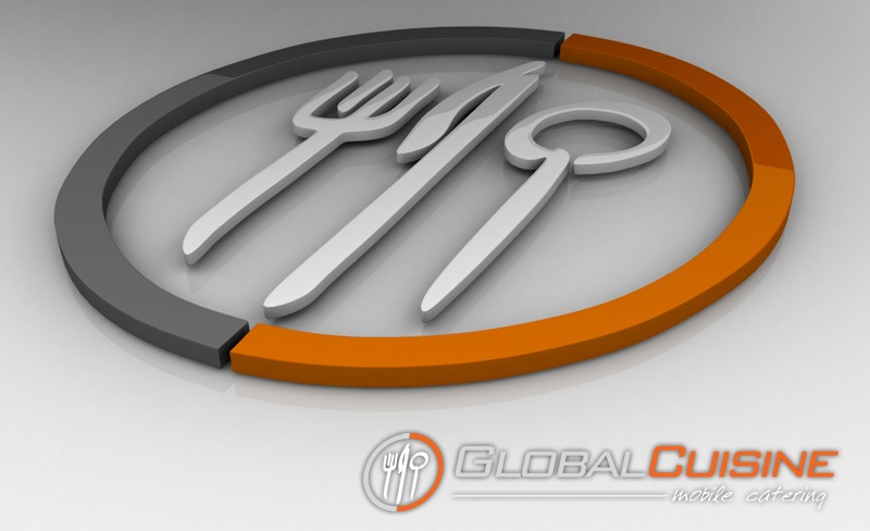 Global Cuisine Logo - 3D