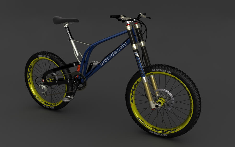Downhill Mountain Bike Wip By Motionmedia On Deviantart