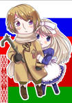 Chibi Russia + Belarus