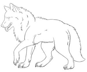 FREE wolf lineart by camychan