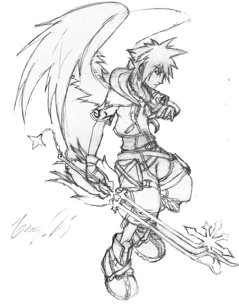 Winged Sora by GrayPaladin