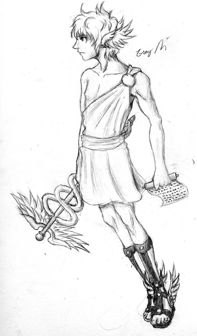 Hermes- Messenger of the Gods by GrayPaladin