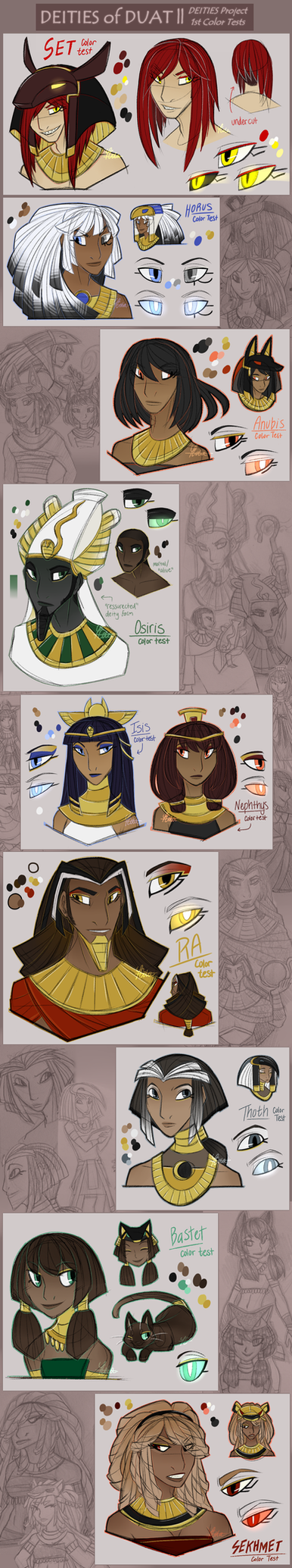 DEITIES || Character Color Tests V1 by TeniCola