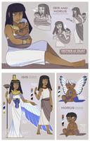 DEITIES -- Isis and Horus (The Seven Scorpions) by TeniCola