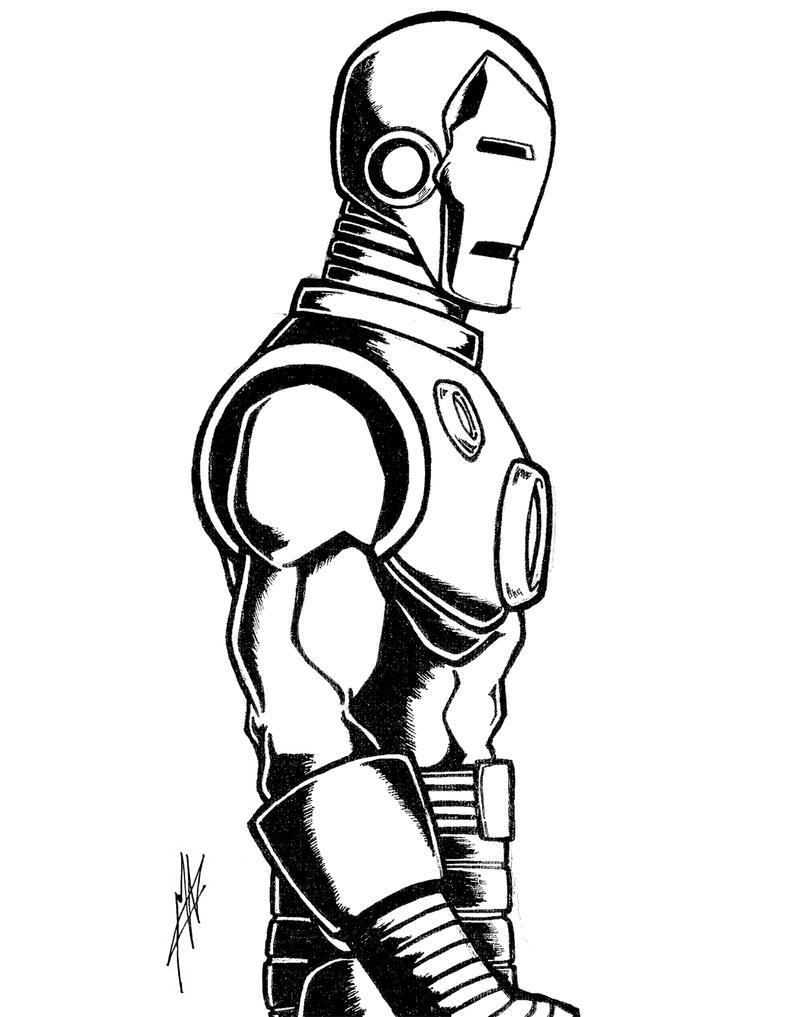 Line Art Man : Series iron man line art by gumbocrafael on deviantart