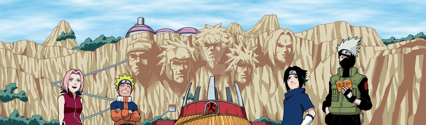 Naruto Team 7 Hokage Rock (Colored) by GumbocRafael ...