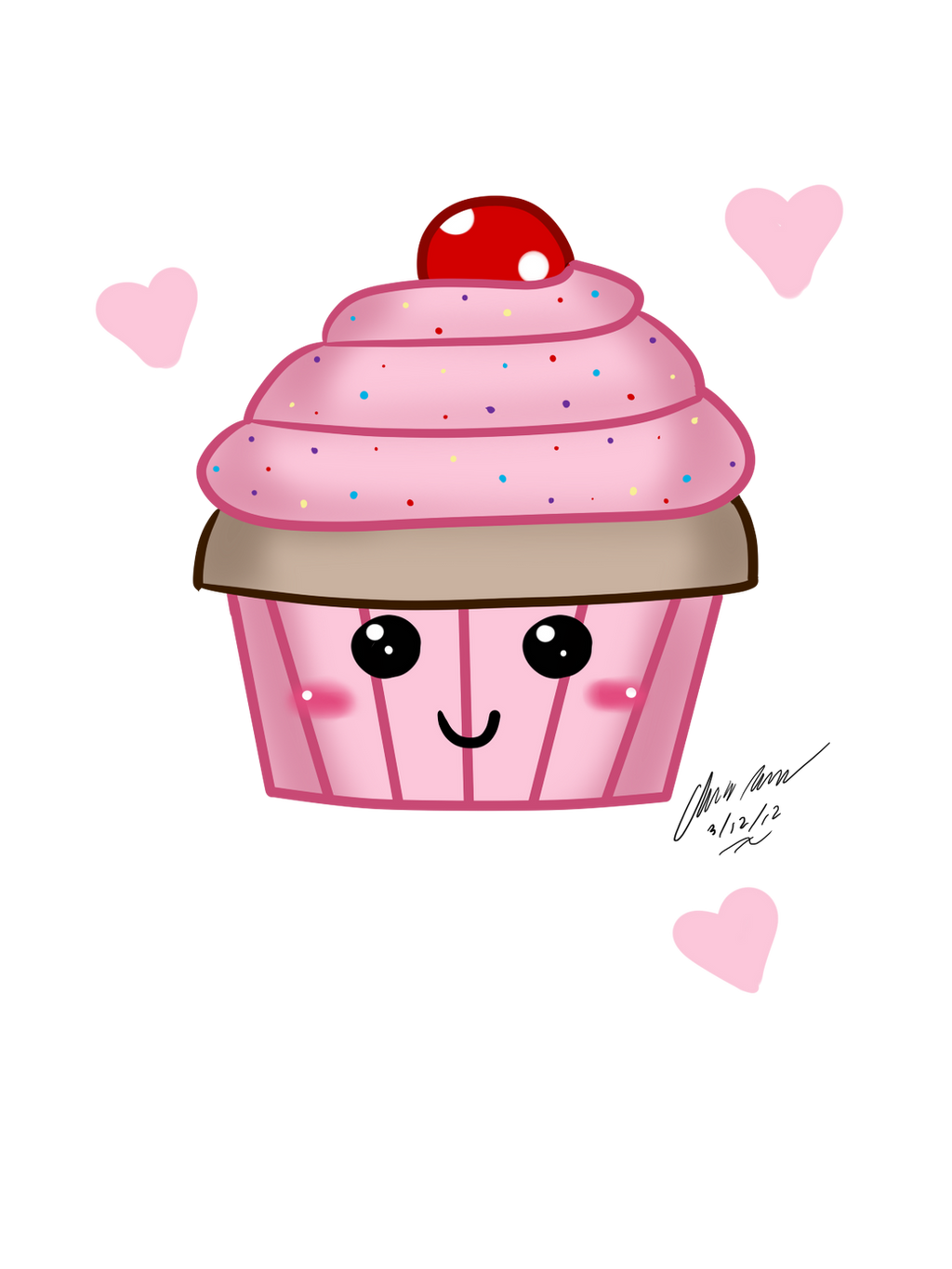 Cute cupcake drawings related keywords suggestions for Cute muffin drawing