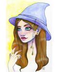 Beauxbatons witch by Nirnoel