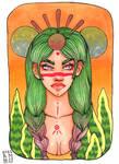 Green wiccan by Nirnoel