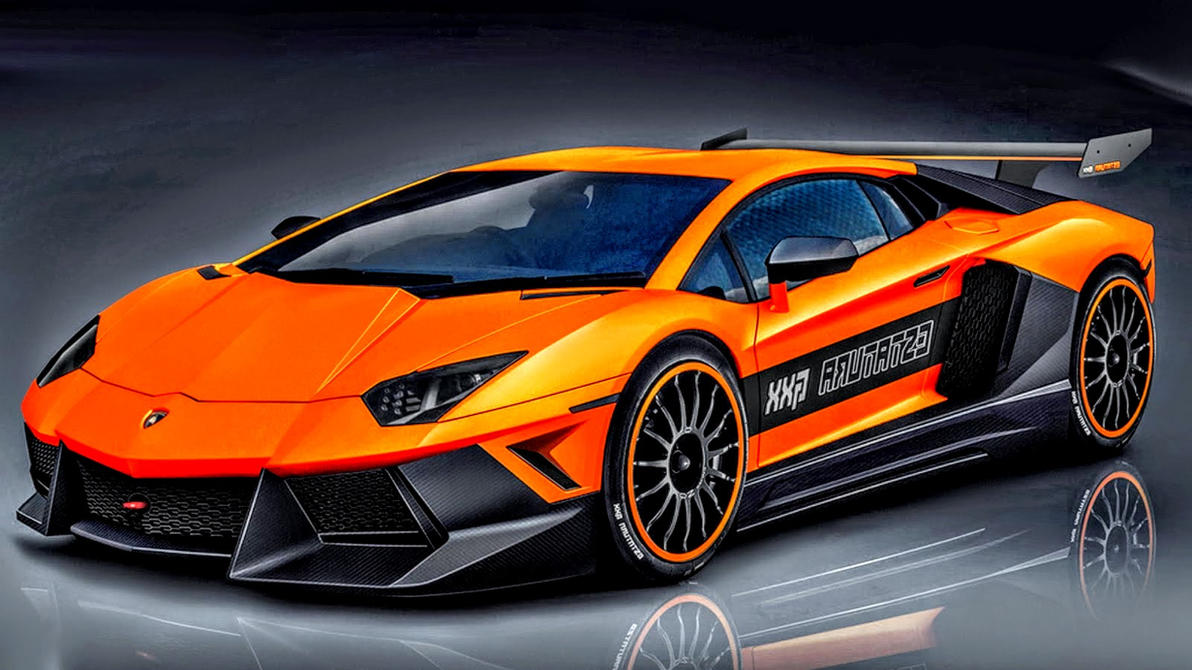 Black and Orange Lamborghini Aventador by ROGUE ...