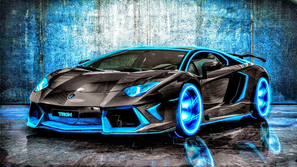 Neon Blue Lamborghini Aventador By Rogue Rattlesnake On Deviantart