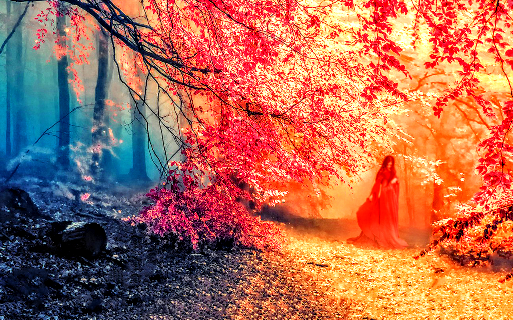 Very Beautiful Red Nature Wallpaper (Remastered 2) By