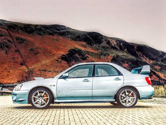 2004 Subaru Impreza WRX STi (Side View) by ROGUE-RATTLESNAKE