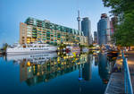 Boats docked up at harbour front, Toronto Ontario by ROGUE-RATTLESNAKE