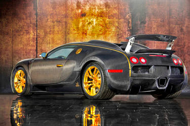 Bugatti Veyron With GOLDEN RIMS (EXCLUSIVELY RARE) by ROGUE-RATTLESNAKE