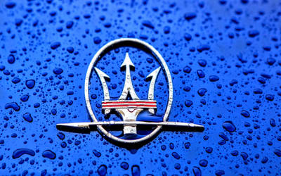Wet Blue Maserati Logo by ROGUE-RATTLESNAKE
