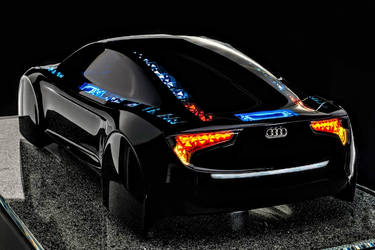 Black Audi R8 Le Mans Concept Car by ROGUE-RATTLESNAKE