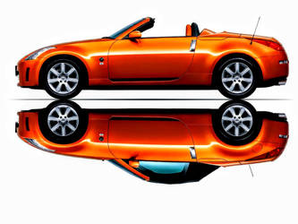 Nissan 350Z Roadster Convertible (REFLECTION) by ROGUE-RATTLESNAKE