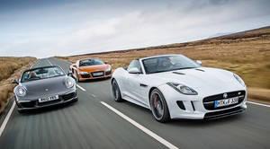 Jaguar F-Type vs. Audi R8 vs. Porsche 911