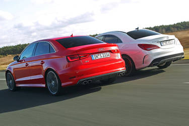 Audi S3 Limousine and Mercedes CLA 45 AMG by ROGUE-RATTLESNAKE