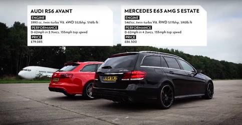 Audi RS6 Avant vs. Mercedes-AMG E63 S Avant Stats by ROGUE-RATTLESNAKE