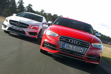 2015 Audi S3 Limousine vs 2015 Mercedes-AMG CLA 45 by ROGUE-RATTLESNAKE