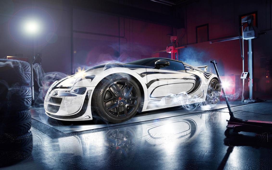 Bugatti Veyron Geneva Auto Show by ROGUE-RATTLESNAKE