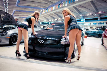 Hot Girls Showing Ass in Front of Infinity Car by ROGUE-RATTLESNAKE