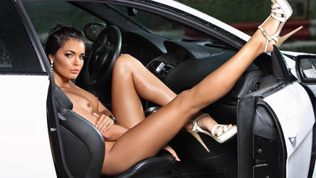 Hot Nude Girl In The Interior of a Sports Car by ROGUE-RATTLESNAKE