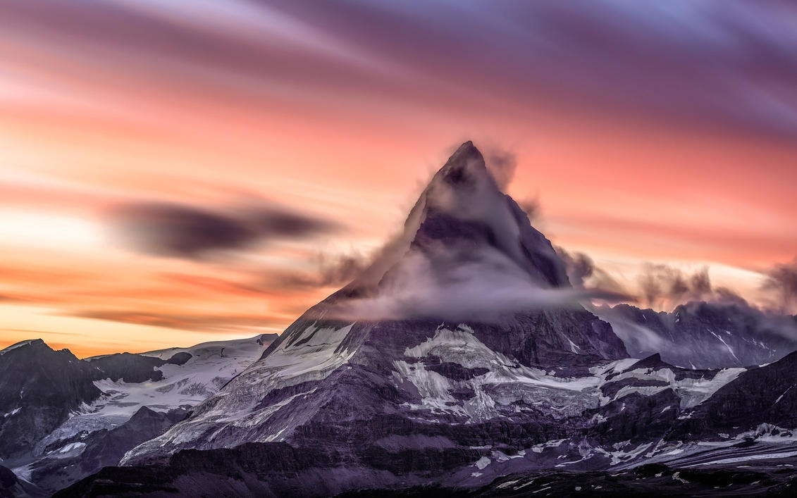 Beautiful Mountain Peak And Sunset Wallpaper By ROGUE RATTLESNAKE